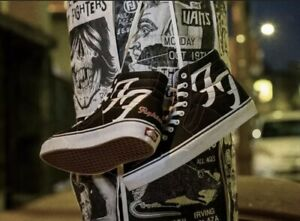 FOO FIGHTERS VANS SK8-HI 25TH ANNIVERSARY US Mens 8 IN HAND FREE SHIPPING