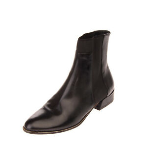 RRP €605 SEBASTIAN Leather Chelsea Boots Size 38.5 UK 5.5 US 8.5 Made in Italy