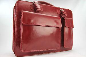 Business- und Laptoptaschen Luxus Aktentasche Weinrot / Kirschrot L