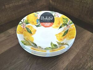 IL Mulino Lemon Tree Floral Butterfly Melamine Side Salad Cereal Bowls 4pc