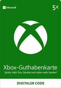 Xbox Live Card Euro 5 Guthaben Karte - Xbox LIVE 5 € Digital Guthaben Code [EU]