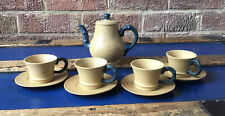 Vintage chinese yixing teapot BANSHANLU & Blue Bamboo & 4 TEA CUPS  Signed