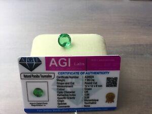 Toumaline grün Mozanbique 7,95 CT mit Zertifikat