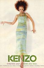 PUBLICITE ADVERTISING  1981   KENZO  haute couture pour un monde plus beau