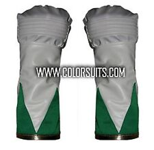 Green Man Power Hero Rangers style Gloves Cuffs Synthetic Leather Costume