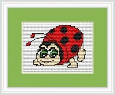 Ladybird Cross Stitch Kit 14 Count Luca S Ideal For Beginner 7cm x 5cm