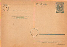 German 1951 8 pfg on Postkarte (Unused) (A) Current Value $21.87