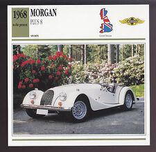 1968-1991 Morgan Plus 8 (Eight) British Car Photo Spec Sheet Info ATLAS CARD