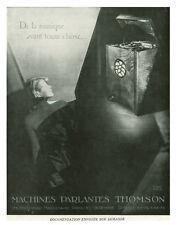 Publicité ancienne radio Thomson 1930 Alban Paris issue de magazine