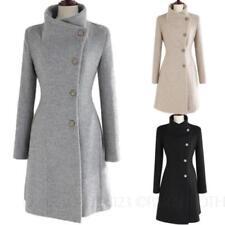 Cotton Blend Classic Neckline Women's Winter