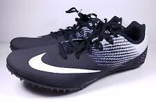 Mens Nike Zoom Rival S8 Track Spikes Running Shoe Black White 806554-011 Sz 12.5