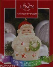 Lenox Color Changing 3.75 Santa Lit Christmas Tree Ornament Nib