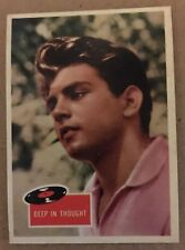 1959 Topps Fabian #3 Deep In Thought EX Condition Non Sport Trading Card