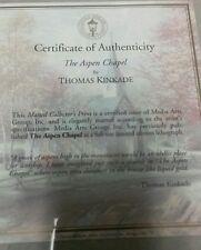 "THOMAS KINKADE THE Aspen CHAPEL Matted Print  New Sealed 11"" X 14"" with COA"