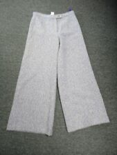 OILILY Purple White Wool Blend Textured Lined Flat Front Dress Pant Sz 38 EE7972