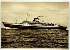 """Cartolina Marina - Transatlantico """"Cristoforo Colombo"""" T/N """"Andrea Doria"""" Societ"""