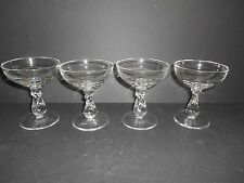 Set of 4 Lariat Pattern 5 oz. Tall Champagne / Sherbert Stems by Heisey