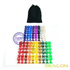 Bescon Multi-Colored RPG Dice Pack of 126 Polyhedral Dice 18 Complete Sets of 7