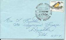 1980 Moomba Festival Melbourne Special Postmarked Cover Pictor Marks Pms 57 (1)