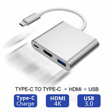 USB 3.1 Type-C To USB 3.0/ HD/ Type-C HUB 3-In-1 Adapter Dongle Dock Cable H0O3