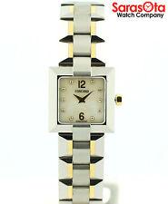 Concord La Scala 18K/Stainless Steel MOP Diamond Dial Square Dress Women's Watch