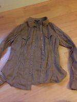 True Vintage Wildlederhemd Damen S 36 Braun Vintage H & M