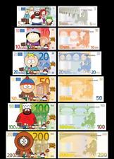 South Park Novelty Notes Set of 6 Fun Euro Bills