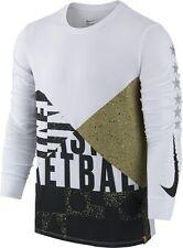 COOL Nike Mens ASG All Star Game Long Sleeve Shirt Dri-Fit Tee 810719-101 SZ S