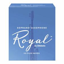 Rico Royal Soprano Saxophone Reeds, Strength 2.5, Box of 10