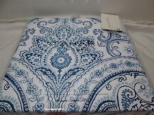 New Tahari LIZA DAMASK Fabric Shower Curtain 72x72 ~ Navy, Blue,White NIP