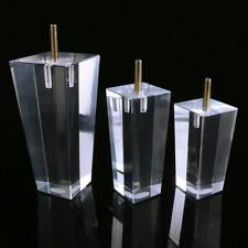"4 x 4/5/6/8"" Acrylic Furniture Legs Pyramid Column Clear Cabinet Replacement"