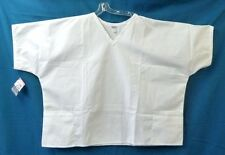 Solid Scrub Top 5XL Plus White 2 Pocket Top PRN Uniforms Unisex 0775 New