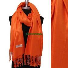 NEW Women Soft Solid Orange PASHMINA/Cashmere Classic SHAWL Scarf Stole WRAP