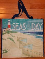 REUSABLE SHOPPING TRAVEL TOTE BAG SEAS ECO FRIENDLY TJMAXX NEW