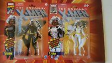 "Marvel Legends X-men Retro Series Action Figure Lot of 2 Strom Black & White 6"""