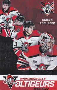 New - 2021-22 QMJHL' DRUMMONDVILLE VOLTIGEURS 40th Season Hockey Pocket Schedule