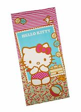 NEW! PRINTED MICROFIBER BATH/ BEACH TOWEL (HELLO KITTY, SIZE 68 x 142cm)