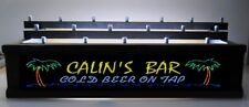 BLACK - ILLUMINATED  PALM TREES BEER TAP HANDLE DISPLAY Personalized HOLDS 18
