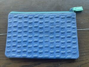 Mywalit Leather Blue Bag 6 1/2 X 4 In