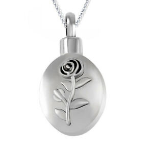 NEW! J221 Rose Droplet Cremation Jewellery Pendant Necklace