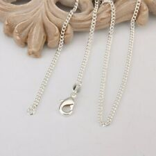 wholesale lots 10 Piece sterling silver Plated 2Mm 18 Inch Curb chain necklace