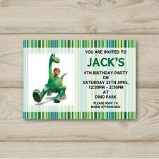 10 Personalised Birthday party invitations The Good Dinosaur Free Envelopes