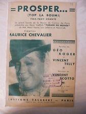Partition Prosper yop la boum Fox Trot Maurice Chevalier
