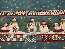 Cardinal Rama De Nieve Navidad Tela De Algodón tesoros atemporales CM1952 por yarda