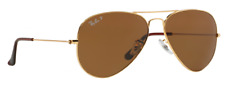 RB3025 Ray-Ban Sunglasses Aviator Gold Frame / Crystal brown Polarized 58mm