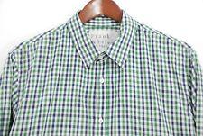 Frank & Eileen Men's Paul Lightweight Button Front Shirt Blue Green Check Large