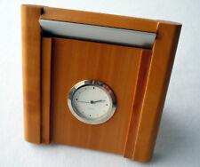 Alfa Romeo Classic Car Accessory Wood Design Desk Office Travel Tabletop Clock
