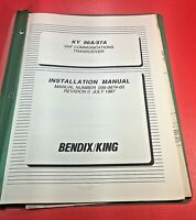 1987 Bendix King KY 96A 97A VHF COMM Transceiver Installation Manual 006-0674-00