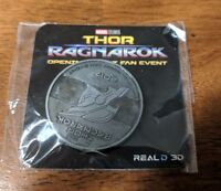 Thor Ragnarok Marvel Collectors Coin - LIMITED & RARE - From Fan Event