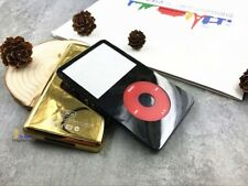 black faceplate housing gold back case red clickwheel fr ipod 5th gen video30gb